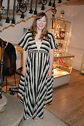 Actress JESSICA HYNES at Ronnie Wood's Raw Instinct Summer Party held at Castle Fine Art, Bruton Street, London on 9th July 2013.