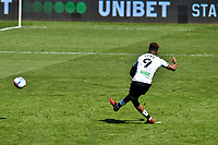 Football - 2020 / 2021 Sky Bet Championship - Swansea City vs Wycombe Wanderers - Liberty Stadium<br /> <br /> Jamal LoweSwansea City scores his team's first goal from a penalty<br /> <br /> COLORSPORT/WINSTON BYNORTH