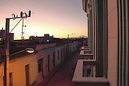 Balconies in Bayamo, Granma, Cuba.