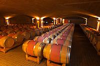 Quarry wine cellar, Craggy Range Winery (Te Mata Peak in background), Havelock North, Hawkes Bay, North Island, New Zealand