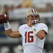 Boston College quarterback Mike Marscovetra (16) during an NCAA football game between the Boston College Eagles and the UCF Knights at Bright House Networks Stadium on Saturday, September 10, 2011 in Orlando, Florida. (AP Photo/Alex Menendez)