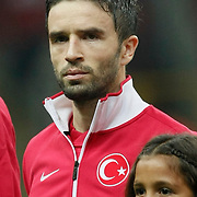 Turkey's Gokhan GONUL during their UEFA EURO 2012 Qualifying round Group A matchday 19 soccer match Turkey betwen Germany at TT Arena in Istanbul October 7, 2011. Photo by TURKPIX
