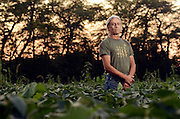 Tony Potenza stands in one of his soy bean fields in Trumansburg, NY. <br /> (Photo by Heather Ainsworth)