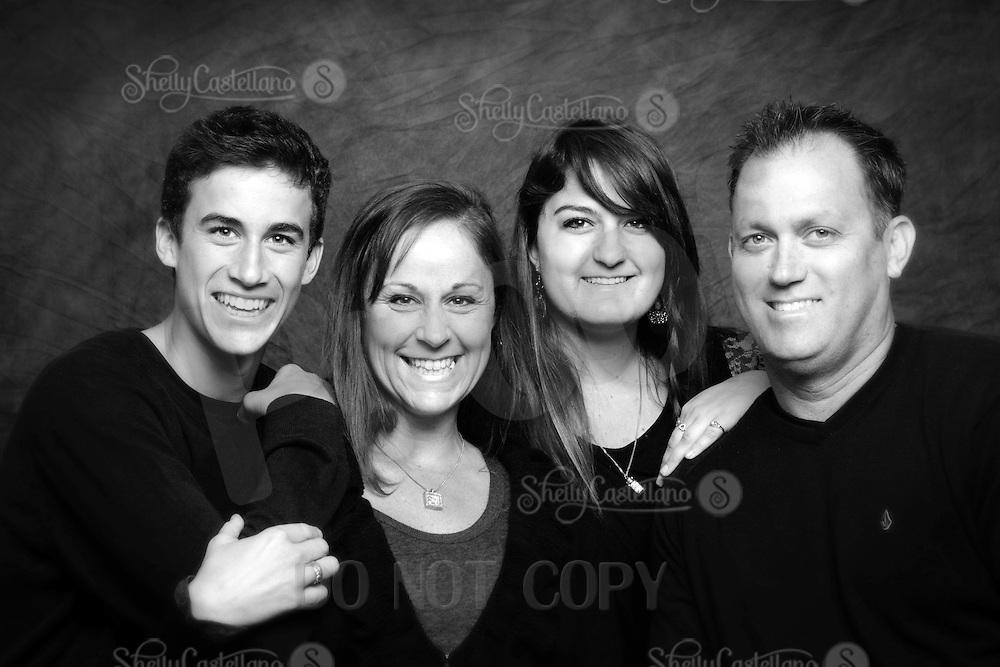 6 November 2011:   Rob, Sami, Taylor and Tucker deCamp family in studio for photo session in Huntington Beach, CA.