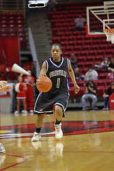 08 March 2008: Ashley Austin. The University of Evansville Purple Aces and the Illinois State University Redbirds took the court looking for the MVC season title, but the Redbird win (87-72) split the title.  The game was played on Doug Collins Court in Redbird Arena in Normal Illinois.