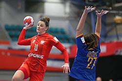 KOLDING, DENMARK - DECEMBER 5: Marta Gega during the EHF Euro 2020 Group D match between Poland and Romania in Sydbank Arena, Kolding, Denmark on December 5, 2020. Photo Credit: Allan Jensen/EVENTMEDIA.