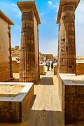 Colonnade entrance to the court of King Djoser's Step Pyramid at Saqqara