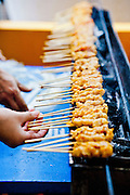 Grilled chicken satay, street food