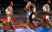 Athletes compete during the women's 5000m final at the National Stadium during the 2008 Beijing Olympic Games on August 22, 2008. Ethiopia's Tirunesh Dibaba won ahead of Turkey's Elvan Abeylegesse and Ethiopia's Meseret Defar. Photo by Lucas Schifres/Pictobank
