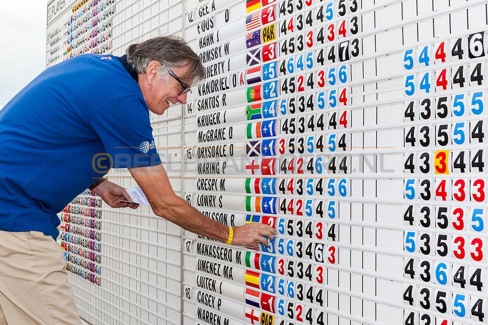 11-09-2014 Foto's van de eerste wedstrijddag van het KLM Open 2014, gespeeld op woensdag op de Kennemer Golf & Country Club in Zandvoort, Nederland.