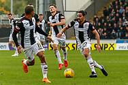 Simeon Jackson of St Mirren & Ryan Edwards of St Mirren working together during the Ladbrokes Scottish Premiership match between St Mirren and Hibernian at the Simple Digital Arena, Paisley, Scotland on 29th September 2018.