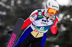 Anja Tepes of Slovenia during Normal Hill Individual Competition at FIS World Cup Ski jumping Ladies Ljubno 2012, on February 11, 2012 in Ljubno ob Savinji, Slovenia. (Photo By Vid Ponikvar / Sportida.com)