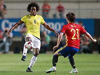 Spain's David Jimenez Silva (r) and Colombia's Carlos Sanchez during international friendly match. June 7,2017.(ALTERPHOTOS/Acero)