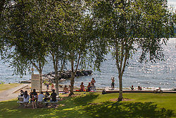 United States, Washington, Bellevue, Medina Beach Park on Lake Washington