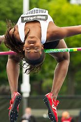 adidas Grand Prix Diamond League professional track & field meet: womens high jump, Priscilla FREDERICK, USA