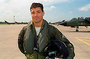 TORNADO PILOT JOHN PETERS AT RAF COTTESMORE.