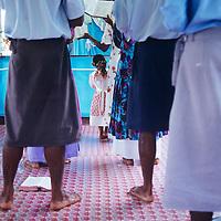Fiji Islands, Vanua Levu, Ninroa Village, in church service