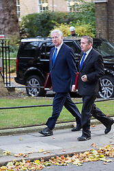 London, October 17 2017. Defence Secretary Michael Fallon and International Trade Secretary Liam Fox attend the UK cabinet meeting at Downing Street. © Paul Davey