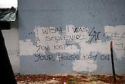 Graffiti on wall, Makarska, Croatia