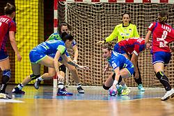 Teja Ferfolja of Slovenia during friendly game between national teams of Slovenia and Serbia on 29th of September, Celje, Slovenija 2018