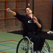 Finale heren rolstoeltennis de Blijkklappers Nederhorst den Berg, Quincy Michielsen