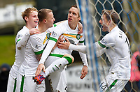 14/02/15 SCOTTISH PREMIERSHIP<br /> ST JOHNSTONE v CELTIC<br /> MCDIARMID PARK - PERTH<br /> Celtic's Stefan Johansen (2nd from right) celebrates his goal with his team-mates