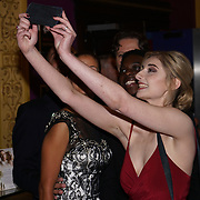London, England, UK. 14th September 2017.Cast Veronica Osimani taking a selfies at the Landing Lake Film Premiere at Empire Haymarket,London, UK.