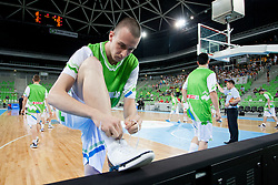 Jure Besedic of Slovenia during basketball match between National teams of Slovenia and France in Quarterfinal Match of U20 Men European Championship Slovenia 2012, on July 20, 2012 in SRC Stozice, Ljubljana, Slovenia. (Photo by Matic Klansek Velej / Sportida.com)