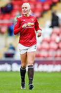 Manchester United defender Maria Thorisdottir (3) during the FA Women's Super League match between Manchester United Women and Reading LFC at Leigh Sports Village, Leigh, United Kingdom on 7 February 2021.