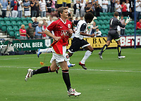 Photo: Paul Thomas.<br /> Preston North End v Manchester United. Pre Season Friendly. 29/07/2006.<br /> <br /> Ole Gunnar Solskjaer leads out Man Utd.