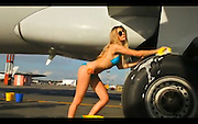 Jul 07, 2010 - Russia - <br /> <br /> Sexy Flight Attendants Wash Plane<br /> <br /> its sexy time on board this airline. But not all flights attendants think its a good idea to show their co-workers willing to strip off to their bikinis and wash their own planes.With soap subs slopping off their breasts and bottoms, the models show Russian flight company Avianova Airlines know how to make racy commercials. In Australia, the secretary of the Flight Attendants Association of Australia Jo-Ann Davidson said ads like this put flight attendants at risk Still looks sexy though<br /> ©Exclusivepix