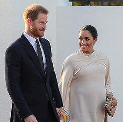 February 24, 2019 - Rabat, Morocco - Image Licensed to i-Images Picture Agency. 24/02/2019. Rabat, Morocco. Prince Harry and Meghan Markle, The Duke and Duchess of Sussex at a reception hosted by the British Ambassador to Morocco  in Rabat on day two of their tour of Morocco. (Credit Image: © Pool/i-Images via ZUMA Press)