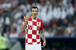 Mario Mandzukic of Croatia during the 2018 FIFA World Cup Russia Final match between France and Croatia at the Luzhniki Stadium on July 15, 2018 in Moscow, Russia