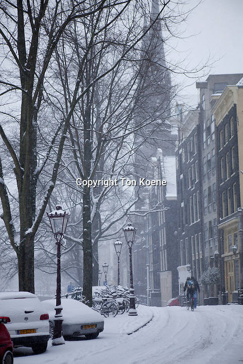 First snow in Amsterdam in the winter of 2012