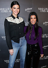 Kendall Jenner and Kourtney Kardashian arrive at the What Goes Around Comes Around - 11 OCt 2017