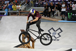 July 20, 2018 - Minneapolis, MN, USA - Garrett Reynolds, who's won seven of the eight X Games BMX Street contests held, competes in the BMX Street Final Friday, July 20, 2018 at U.S. Bank Stadium in Minneapolis, Minn. (Credit Image: © Anthony Souffle/TNS via ZUMA Wire)