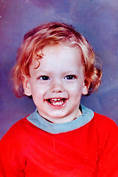 19 Jan,2006. Collect photograph.  Marshall Bruce Mathers III, aka Eminem in a 1970's photograph when Eminem was just 2 years old.  <br /> Photo Credit: Kresin via  www.varleypix.com