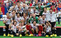 BOOM - Duitsland Europees kampioen na  de finale van het EK hockey bij de mannen tussen Belgie en Duitsland (1-3). ANP KOEN SUYK