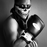 Portrait of Bantamweight boxing champion Abner Mares. Photographed for Der Spiegel.