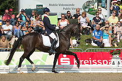 Franckx Tom (BEL) ) Dolores v.d. Kwikaard<br /> FEI World Dressage Championships for Young Horses<br /> Internationales Dressur- und Springfestival - Verden 2014<br /> © Dirk Caremans