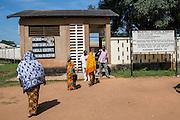 New arrivals outside St Walburg's Hospital, Nyangao. Lindi Region, Tanzania.