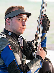 14.08.2016, Olympic Shooting Center, Rio de Janeiro, BRA, Rio 2016, Olympische Sommerspiele, Schiessen, Herren, Dreistellungskampf, 50m, im Bild Alexis Raynaud (FRA) // Alexis Raynaud of France during the Mens 50 meter rifle three positions Sooting of the Rio 2016 Olympic Summer Games at the Olympic Shooting Center in Rio de Janeiro, Brazil on 2016/08/14. EXPA Pictures © 2016, PhotoCredit: EXPA/ Johann Groder
