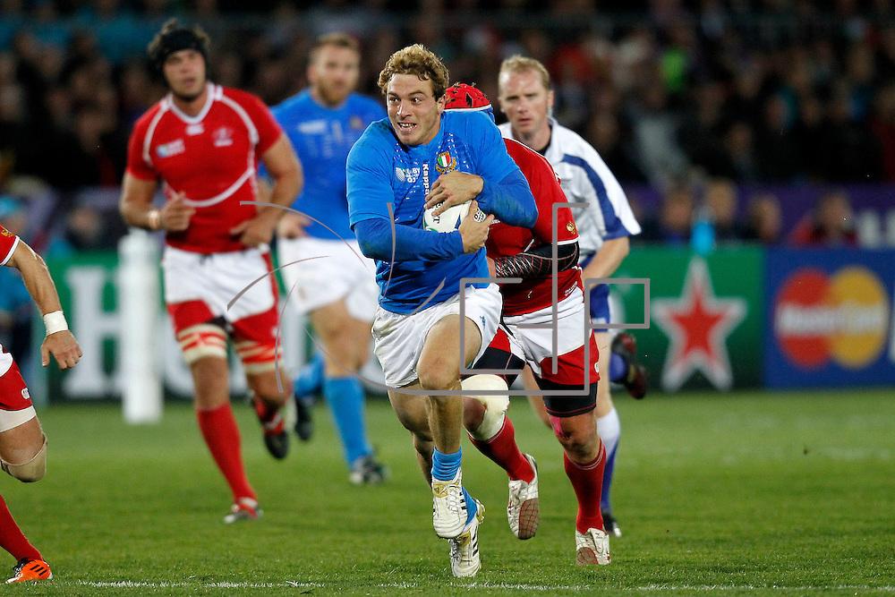 Nelson 20/09/2011 Trafalgar Park <br /> Rugby World Cup : Italy vs Russia<br /> Giulio Toniolatti
