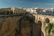 Puente Nuevo bridge with town in background, Ronda, Andalusia, Spain