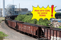 Union Pacific Coal Unit Train, Austin, TX, pollution, coal, carbon, climate change, global warming,