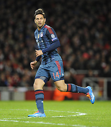 Bayern Munich's Claudio Pizarro - Photo mandatory by-line: Joe Meredith/JMP - Tel: Mobile: 07966 386802 19/02/2014 - SPORT - FOOTBALL - London - Emirates Stadium - Arsenal v Bayern Munich - Champions League - Last 16 - First Leg