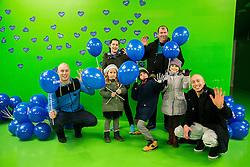 Charity event Podarite nam modro srce by Nivea and Zveza prijateljev mladine Slovenije before basketball match between KK Union Olimpija and KK Karpos Sokoli in Round #20 of ABA League 2016/17, on January 29, 2017 in Arena Stozice, Ljubljana, Slovenia. Photo by Vid Ponikvar / Sportida