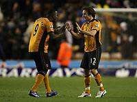 Fotball<br /> England<br /> Foto: Fotosports/Digitalsport<br /> NORWAY ONLY<br /> <br /> Wolverhampton Wanderers v Sunderland , Premier League 27/11/2010<br /> Sylvan Ebanks-Blake of Wolves and Stephen Hunt of Wolves