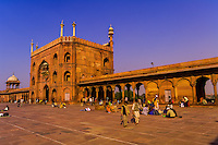 Courtyard of the Jama Masjid Mosque, Delhi, India