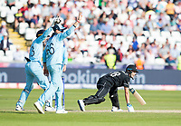 Cricket - 2019 ICC Cricket World Cup - Group Stage: England vs. NZ<br /> <br /> Trent Boult of New Zealand is stumped out by Jos Buttler of England from an Adil Rashid of England's bowl, at the Riverside, Chester-le-Street, Durham.<br /> <br /> COLORSPORT/BRUCE WHITE